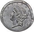 Patterns, (1859) $20 Liberty Double Eagle Obverse Die Trial, Judd-A1859-10, Pollock-3232, R.8, MS64 PCGS....