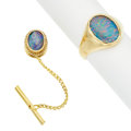 Estate Jewelry:Lots, Opal Doublet, Gold Jewelry. ... (Total: 2 Items)