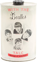 Music Memorabilia:Memorabilia, Beatles Talcum Powder Tin by Margo of Mayfair (UK, 1963)....