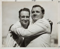 "Baseball Collectibles:Photos, 1939 Babe Ruth Embraces Lou Gehrig after ""Luckiest Man"" SpeechOriginal News Photograph, PSA/DNA Type 1...."