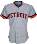 Baseball Collectibles:Uniforms, 1989 Sparky Anderson Game Worn Detroit Tigers Jersey. ...