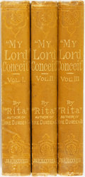 "Books:Literature Pre-1900, ""Rita"". My Lord Conceit. London: John and Robert Maxwell,[n.d., circa 1880].... (Total: 3 Items)"