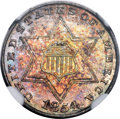 Three Cent Silver, 1854 3CS MS67 ★ NGC....