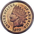 Proof Indian Cents, 1870 1C PR66 Red Cameo PCGS. CAC....