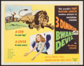 "Movie Posters:Adventure, Bwana Devil (United Artists, 1953). Title Lobby Card (11"" X 14"")3-D Style. Adventure.. ..."