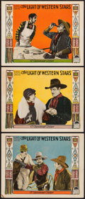 """Movie Posters:Western, The Light of Western Stars (Paramount, 1925). Lobby Cards (3) (11"""" X 14""""). Western.. ... (Total: 3 Items)"""