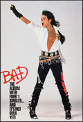"Movie Posters:Rock and Roll, Michael Jackson: Bad (CBS Records, 1988). Album Poster (24"" X35.75"") Flat Folded. Rock and Roll.. ..."
