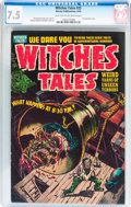 Golden Age (1938-1955):Horror, Witches Tales #25 (Harvey, 1954) CGC VF- 7.5 Light tan to off-whitepages....