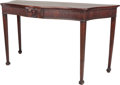 Furniture , A George III Mahogany Console Table, circa 182035-1/2 inches high x 64 inches wide x 27-1/4 inches deep (90.2 x 162.6 x 69.2...