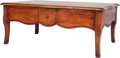 Furniture : French, A French Provincial-Style Coffee Table, 20th century. 19 inches high x 47 inches wide x 31-1/2 inches deep (48.3 x 119.4 x 8...