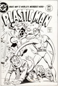Original Comic Art:Covers, Ramona Fradon and Bob Smith Plastic Man #16 Cover Original Art (DC, 1977)....