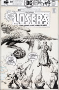 Original Comic Art:Covers, Luis Dominguez Our Fighting Forces #167 The Losers Cover Original Art (DC, 1976)....