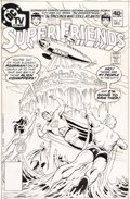 Original Comic Art:Covers, Ramona Fradon and Bob Smith Super Friends #27 Cover Original Art (DC, 1979)....