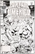 Original Comic Art:Covers, Dave Hoover Captain America #434 Cover Original Art (Marvel,1994)....