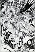 Original Comic Art:Splash Pages, Jim Lee and Scott Williams Fantastic Four V2#5 Splash Page 9Silver Surfer Original Art (Marvel, 1987)....
