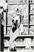 Original Comic Art:Splash Pages, Jim Lee and Scott Williams All Star Batman and Robin, the BoyWonder #3 Splash Page 3 Black Canary Original Art (D...
