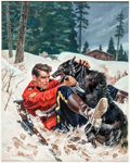 Original Comic Art:Covers, William George King of the Royal Mounted #13 Cover PaintingOriginal Art (Dell, 1953)....