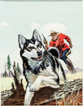 Original Comic Art:Covers, William George Sergeant Preston of the Yukon #8 Cover Painting Original Art (Dell, 1953)....