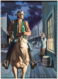 "Original Comic Art:Covers, William George Four Color #534 ""Ernest Haycox's Western Marshal"" Cover Painting Original Art (Dell, 1954)...."