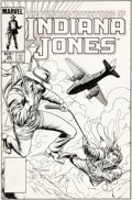 Original Comic Art:Covers, Keith Pollard The Further Adventures of Indiana Jones #28 Cover Original Art (Marvel, 1985)....