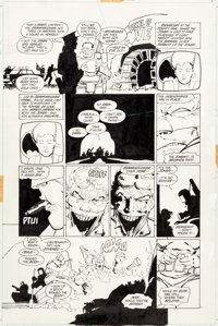 "Frank Miller and Klaus Janson Batman: The Dark Knight Returns #4 ""The Dark Knight Falls"" Page 2 Original Art (..."