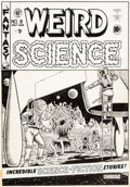 Original Comic Art:Covers, Al Feldstein Weird Science #8 Cover Original Art (EC,1951)....
