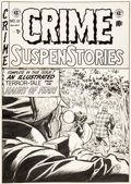 Original Comic Art:Covers, Johnny Craig Crime SuspenStories #12 Cover Original Art (EC,1952)....