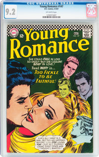 Young Romance #147 (DC, 1967) CGC NM- 9.2 Off-white pages
