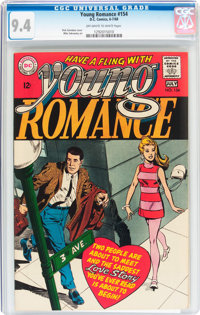 Young Romance #154 (DC, 1968) CGC NM 9.4 Off-white to white pages