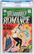 Silver Age (1956-1969):Romance, Young Romance #157 (DC, 1969) CGC NM 9.4 Off-white to white pages....