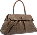 "Luxury Accessories:Bags, Zagliani Olive Green Crocodile Shoulder Bag. Very GoodCondition. 20"" Width x 11"" Height x 4"" Depth. ..."