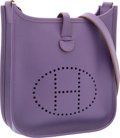 Luxury Accessories:Bags, Hermes Ultraviolet Epsom Leather Evelyne TPM Bag with PalladiumHardware. O Square, 2011. Excellent Condition.6.5...