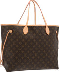 "Luxury Accessories:Bags, Louis Vuitton Classic Monogram Canvas Neverfull GM Bag. Excellent Condition. 15.5"" Width x 12.5"" Height x 7"" Depth. ..."