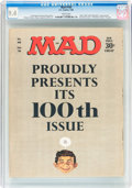 Magazines:Mad, MAD #100 (EC, 1966) CGC NM 9.4 White pages....