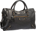 "Luxury Accessories:Bags, Balenciaga Black Crocodile Classic City Bag. Good Condition. 15"" Width x 8"" Height x 5"" Depth . ..."