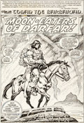 Original Comic Art:Splash Pages, John Buscema and Ernie Chan Conan the Barbarian #108 SplashPage 1 Original Art (Marvel, 1980)....