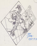 Original Comic Art:Splash Pages, John Romita Sr. - Spider-Man Planet Pin-Up Original Art (Marvel,undated)....