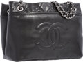 "Luxury Accessories:Bags, Chanel Black Quilted Caviar Leather Shoulder Bag with SilverHardware. Very Good to Excellent Condition. 12.5"" Widthx..."