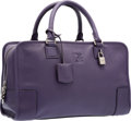 "Luxury Accessories:Bags, Loewe Violet Leather Amazona Bag . Excellent Condition.14"" Width x 8.5"" Height x 5.5"" Depth. ..."