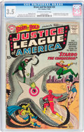 Silver Age (1956-1969):Superhero, The Brave and the Bold #28 Justice League of America (DC, 1960) CGCVG- 3.5 Off-white to white pages....