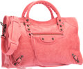 """Luxury Accessories:Bags, Balenciaga Framboise Pink Lambskin Leather Classic City Bag.Excellent Condition. 15"""" Width x 9.5"""" Height x 5.5""""Depth..."""