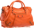 "Luxury Accessories:Bags, Balenciaga Tomate Orange Lambskin Leather Classic City Bag.Excellent Condition. 15"" Width x 9.5"" Height x 5.5""Depth..."