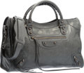 "Luxury Accessories:Bags, Balenciaga Anthracite Gray Lambskin Leather Classic City Bag.Excellent Condition. 15"" Width x 9.5"" Height x 5.5""Dept..."