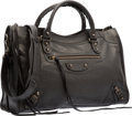 "Luxury Accessories:Bags, Balenciaga Limited Edition Black Lizard Embossed Lambskin LeatherClassic City Bag. Excellent Condition. 15"" Width x9..."