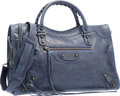 "Luxury Accessories:Bags, Balenciaga Royal Blue Lambskin Leather Classic City Bag.Excellent Condition. 15"" Width x 9.5"" Height x 5.5""Depth. ..."