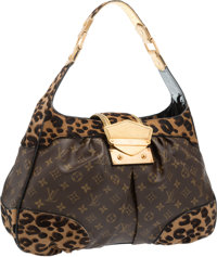 Louis Vuitton Limited Edition Leopard Ponyhair & Classic Monogram Canvas Polly Bag by Stephen Sprouse Very Good
