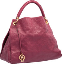"""Louis Vuitton Raspberry Monogram Emprient Leather Artsy MM Bag Good to Very Good Condition 16"""" Wi"""
