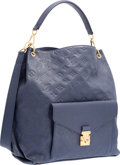 "Luxury Accessories:Bags, Louis Vuitton Dark Blue Celeste Monogram Empreinte Leather MetisBag. Excellent Condition. 12"" Width x 14"" Height x4...."