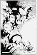 Original Comic Art:Covers, Jim Cheung and Mark Morales New Avengers: Illuminati #5Cover Original Art (Marvel, 2008)....