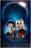 Original Comic Art:Covers, Keith Birdsong Star Trek: The Next Generation: DescentPaperback Novel Cover Painting Original Art (Pocket Books, ...